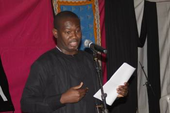 Afetsi Awoonor speaks in tribute to his father the late Professor Kofi Awoonor.